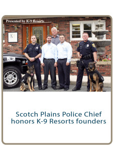 Scotch Plains Police Chief honors k-9 Resorts founders